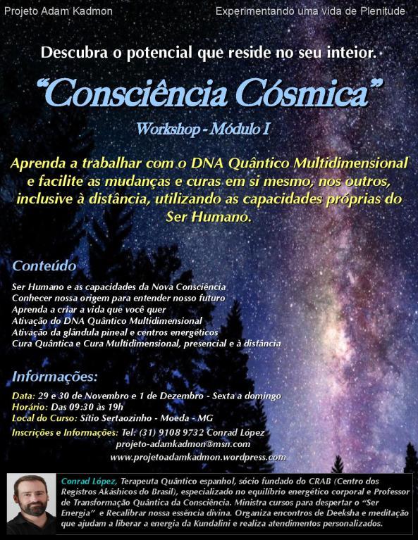 Workshop Consciência Cósmica