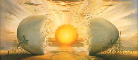 """Salvador Dali - """"O ovo cósmico"""""""