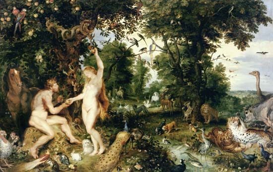 Peter Paul Rubens, O Paraíso (Adão e Eva)