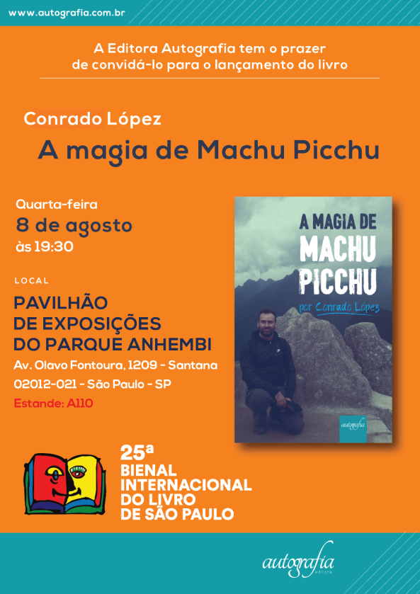 lançamento do livro A Magia de Machu Picchu por Conrado López